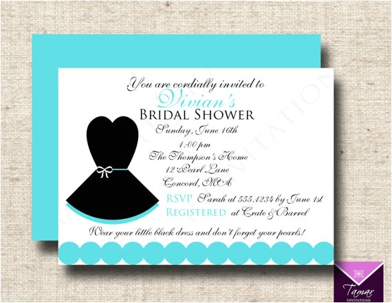 printable breakfast tiffanys bridal shower invitation