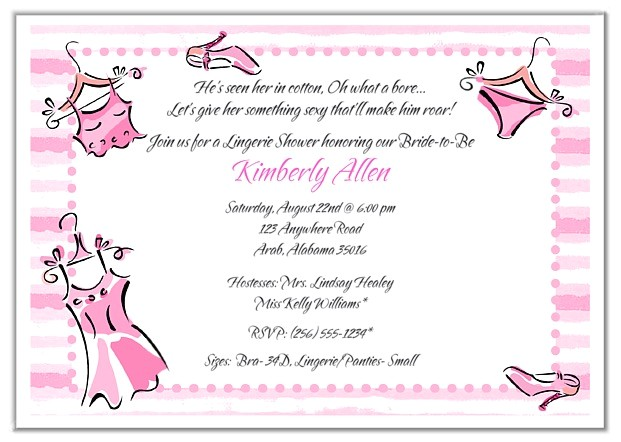 bridal shower lingerie bachelorette party invitations