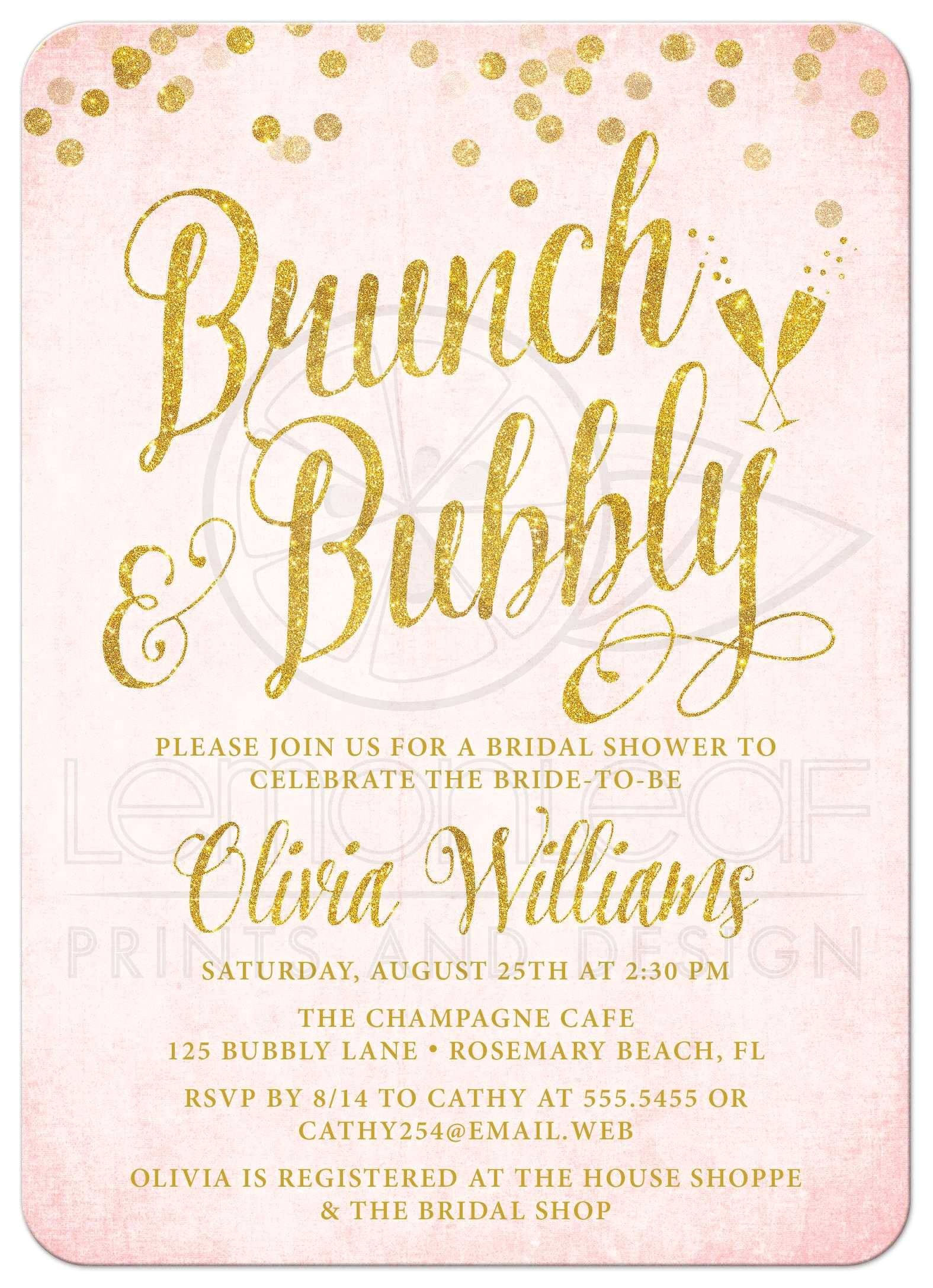 Bridal Shower Brunch Invitation Template Bridal Shower Invitations Bridal Brunch Shower