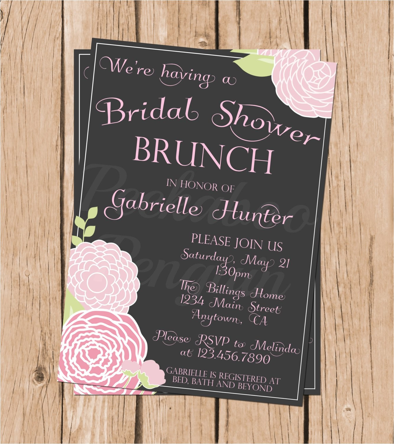 brunch bridal shower invitations
