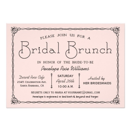 vintage bridal brunch bridal shower invitations 256651172612604778