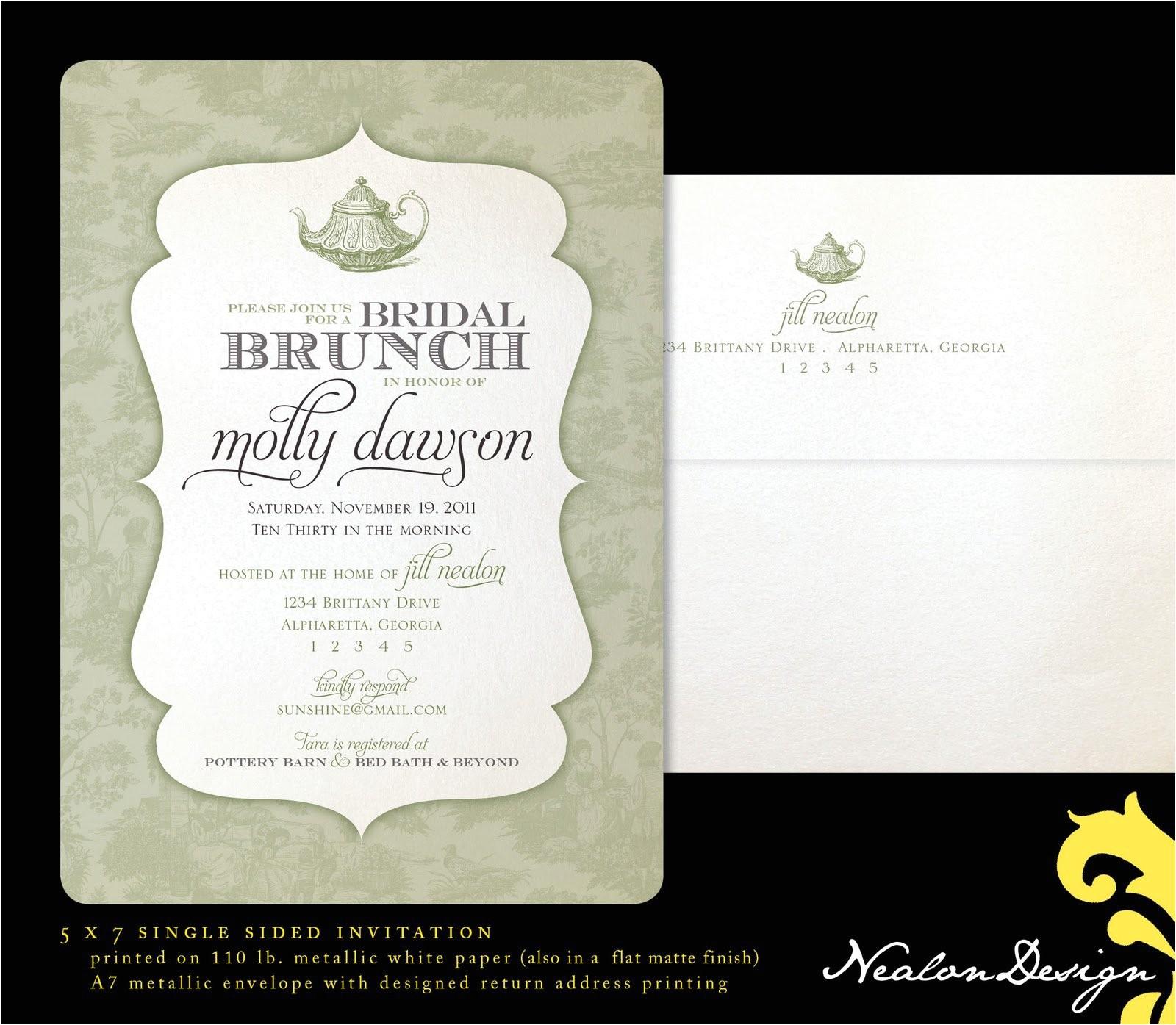 bridal shower brunch invitation wording ideas