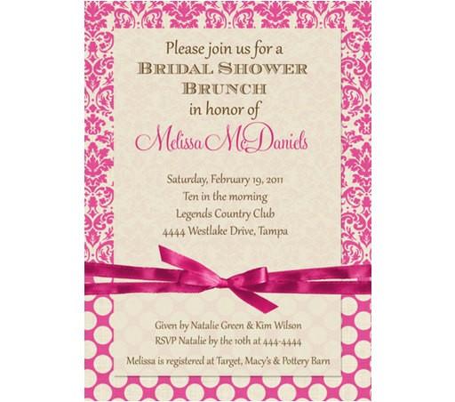 bridal shower brunch invitations