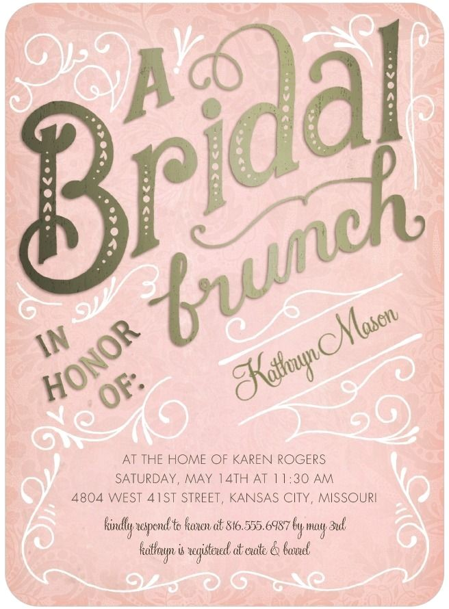 Bridal Shower Brunch Invites Bridal Brunch Signature White Bridal Shower Invitations