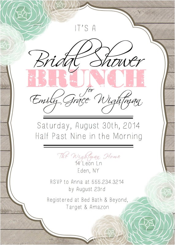 bridal shower brunch printable