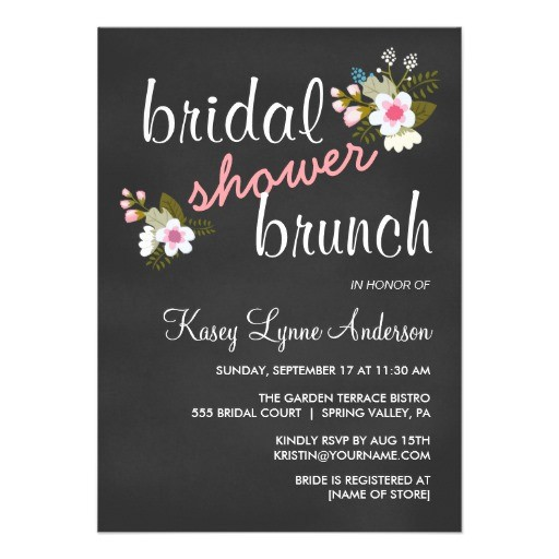 bridal shower invitations for brunch