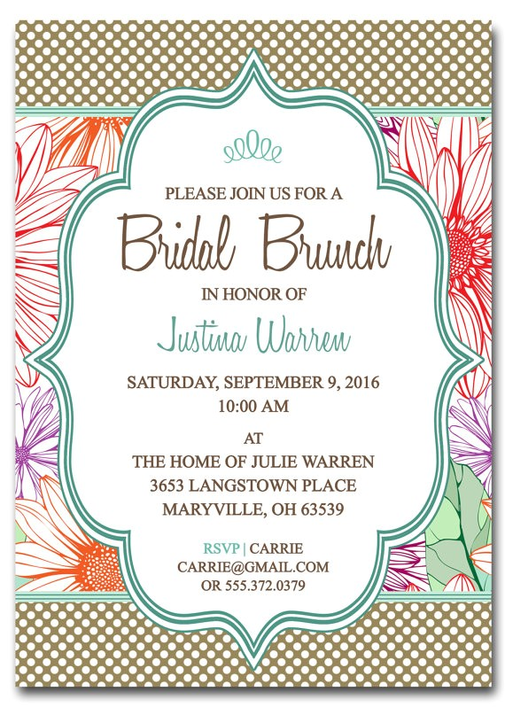 free printable bridal shower brunch