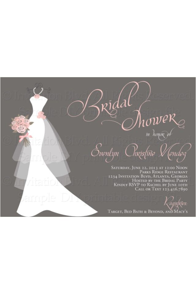 bridal shower invitations via email