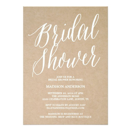 modern script bridal shower invitation 161082734957390657