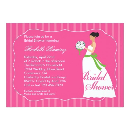 wedding dress bridal shower invitation 161365691094803697