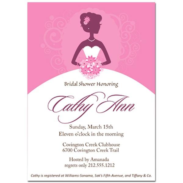 bride shower invite