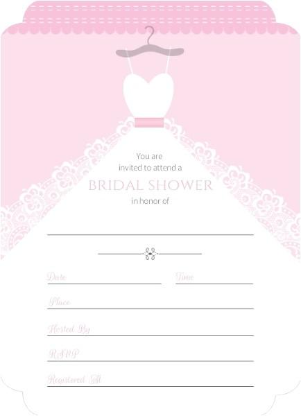 white wedding dress fill in the blank bridal shower invite