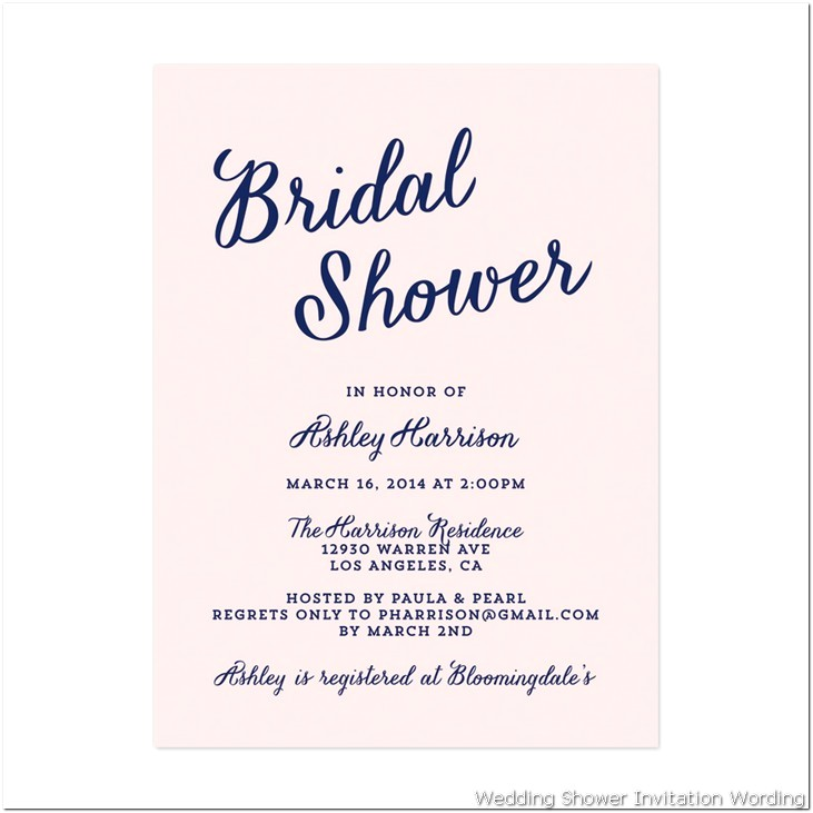 Bridal Shower Invitation Examples Bridal Shower Invitation Wording
