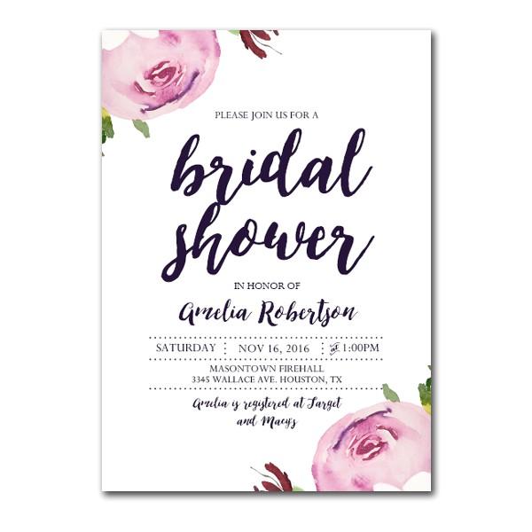 editable pdf bridal shower invitation diy watercolor peony instant printable edit adobe reader
