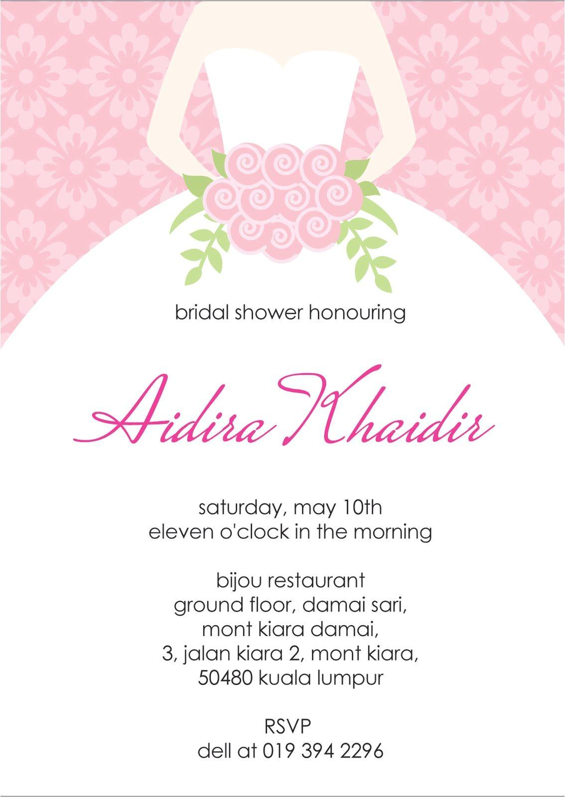 bridal shower invitation wording etiquette