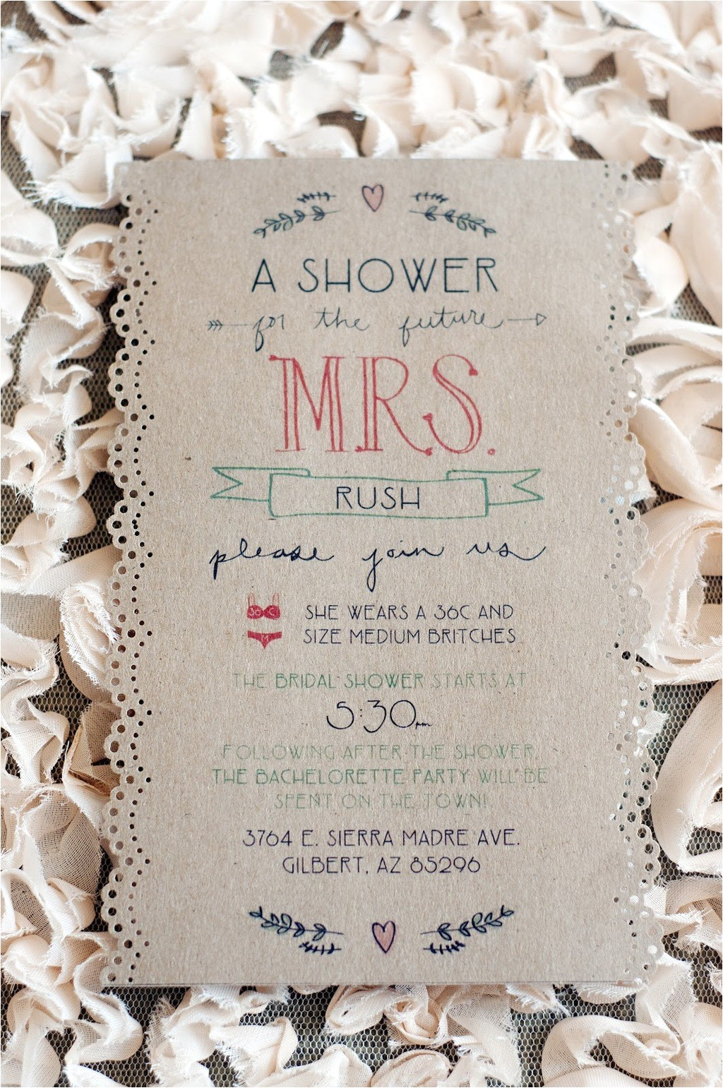 handmade wedding ideas bridal shower invite