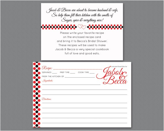 bridal shower invitation insert