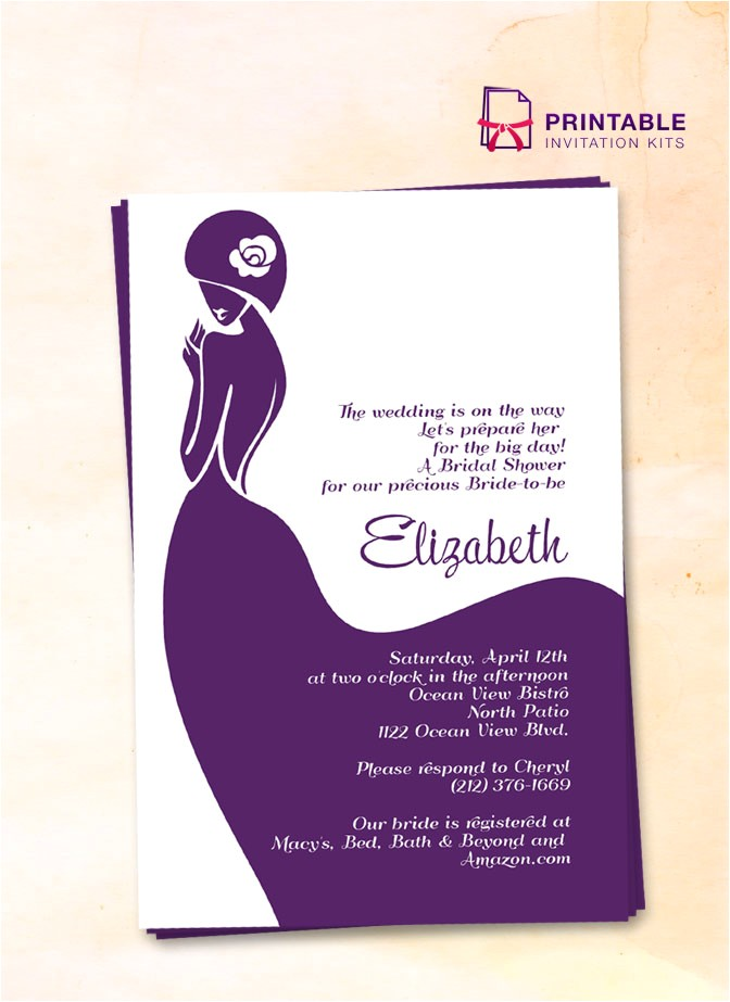bridal shower invitation lady bride