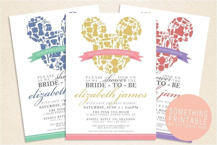printable bridal shower invitations kits