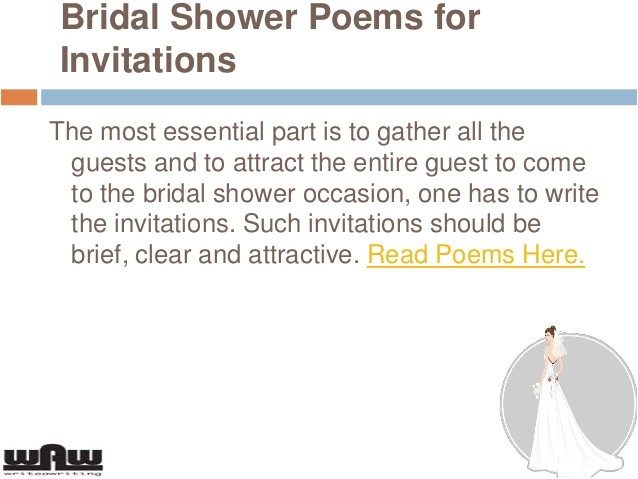 bridal shower and wedding shower invitations wording poems and sayings 26606838