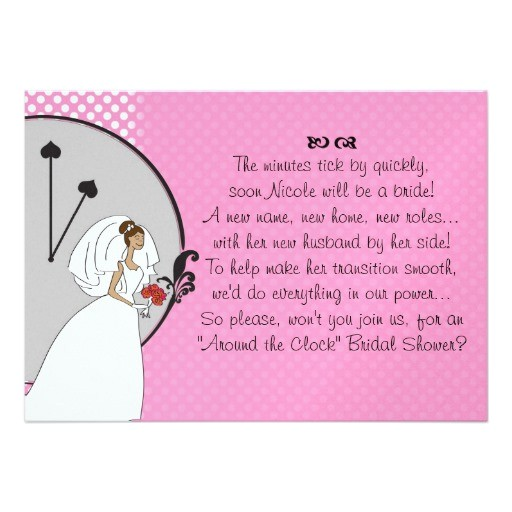 wedding shower invitation wording poem