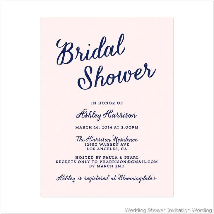 gift card bridal shower wording