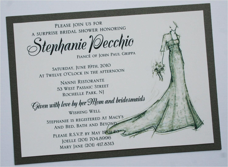 bridal shower invitation with bride