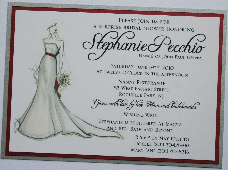 Bridal Shower Invitation Wording Ideas Wishing Well Bridal Shower Invitations Bridal Shower Invitation