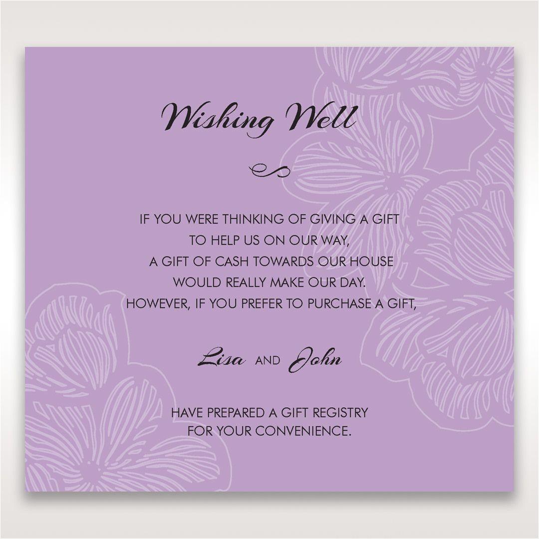 wishing well wording for wedding invitations