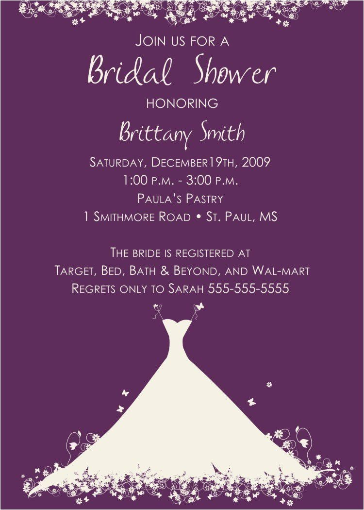 bridal shower invitation wording for money