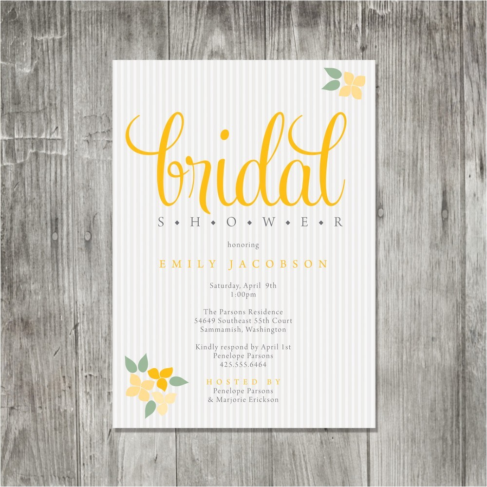 bridal shower invitations etsy template