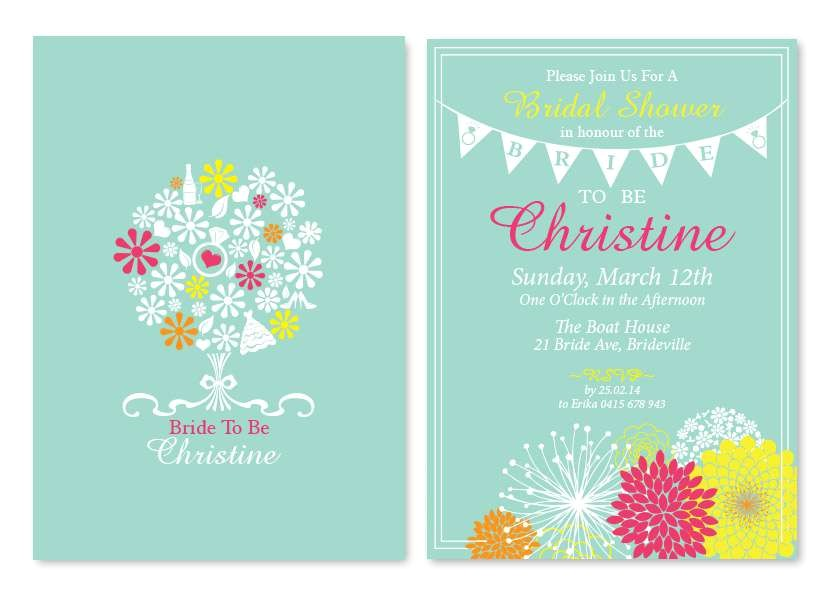 bride to be wedding personalised invitations