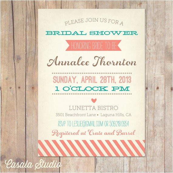vintage bridal shower invitation baby
