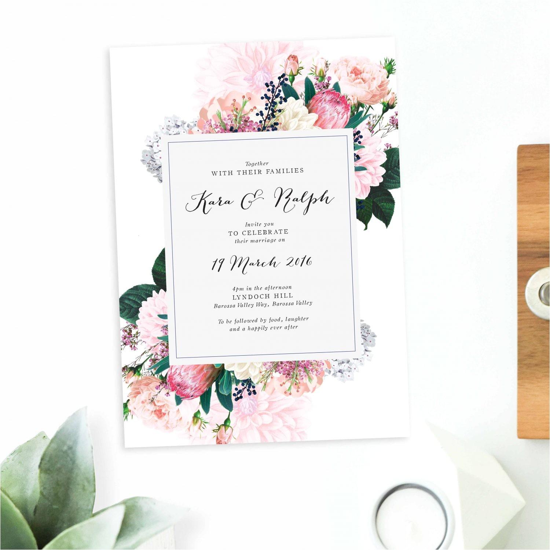 pretty protea wedding invitations pretty protea