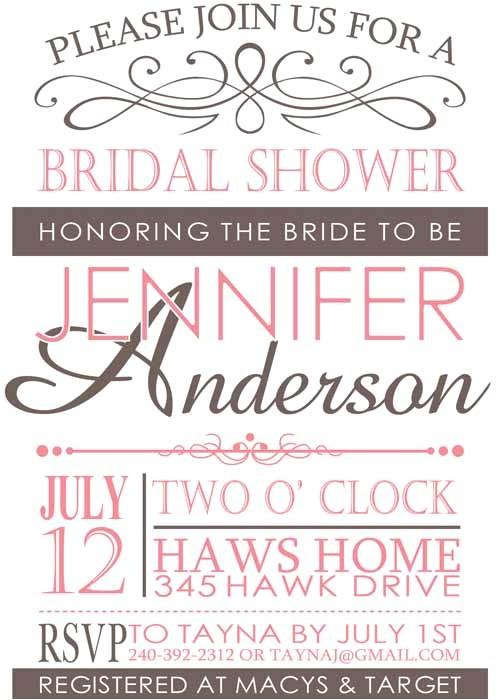 bridal shower invitations online canada