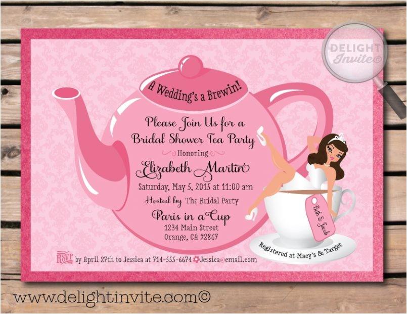 wedding shower invitations tar