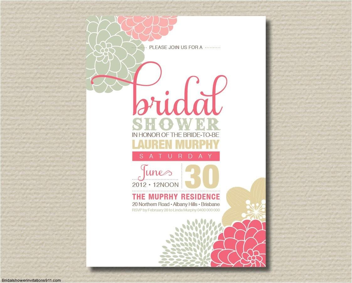 bridal shower invitations tar