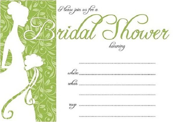Bridal Shower Invitations Free Printable Bridal Shower Invitations Easyday