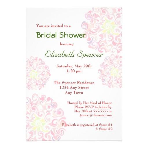 bridal shower invitation wording in