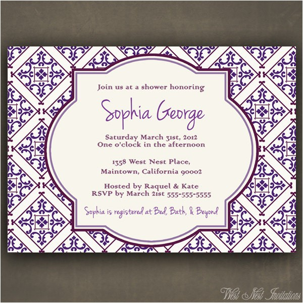 bridal shower invitations in spanish