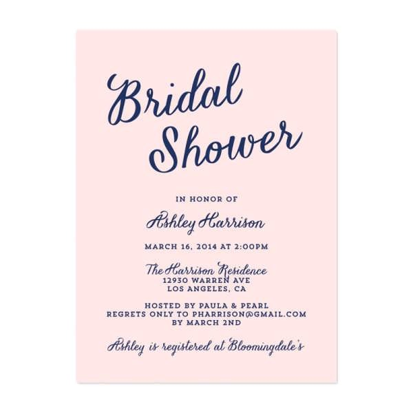 wording for bridal shower invitations in spanish