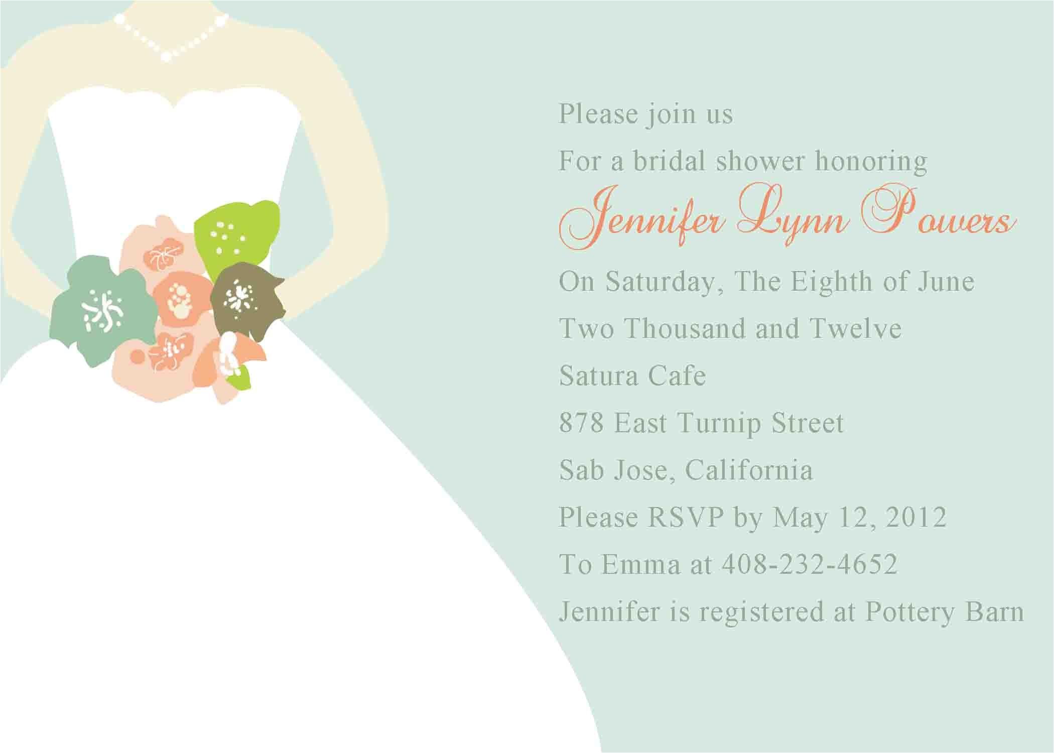 bridal brunch shower invitations