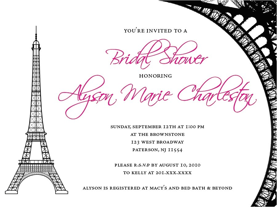 paris themed bridal shower invitations and the invitations of the bridal shower invitation templates to the party sketch with cool idea 20