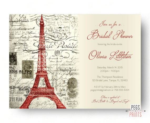 red paris themed bridal shower