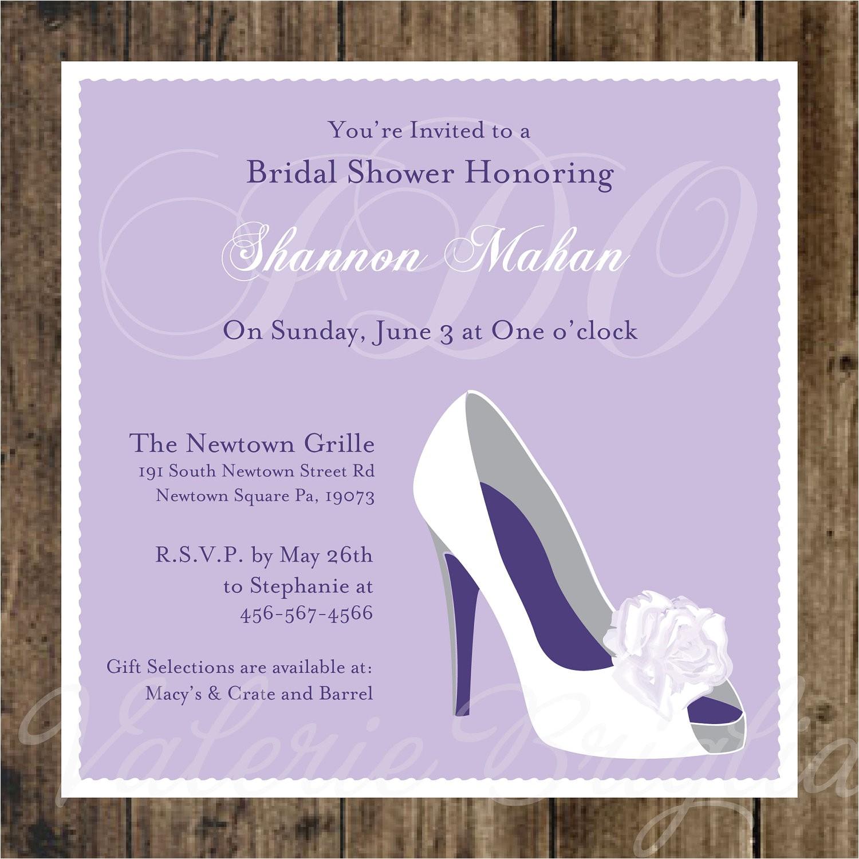 wedding shoe bridal shower invitation