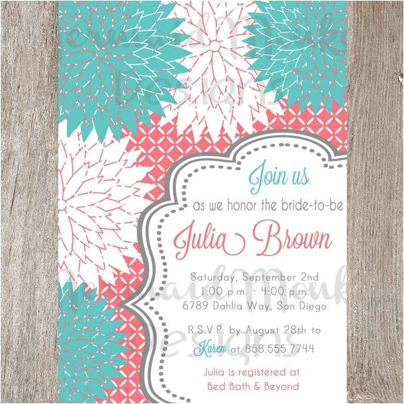bridal shower invitations via email