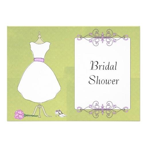 krw modern wedding dress bridal shower invitations