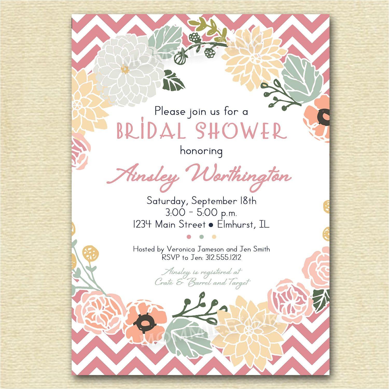 vintage bridal shower invitations templates