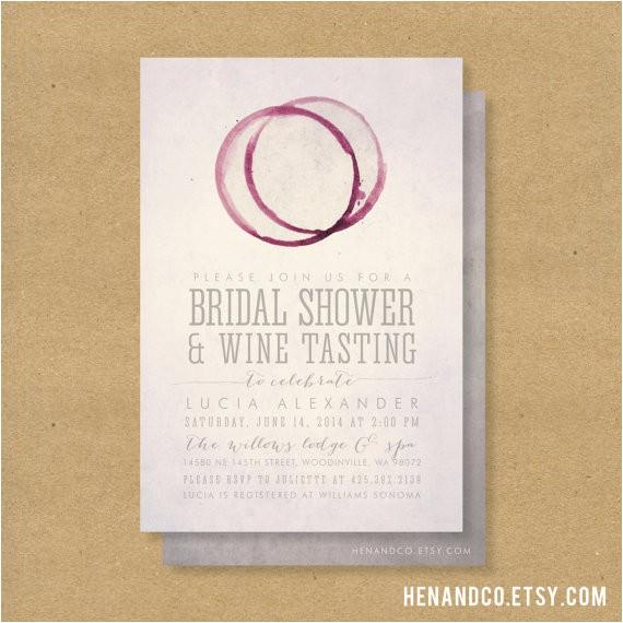 wine tasting bridal shower invitation printable winery or wine theme