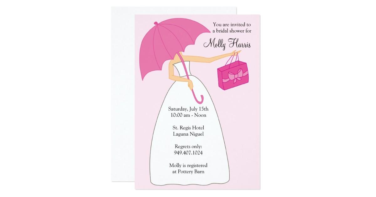 bridal shower invitation with matching envelopes
